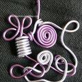pendentif violet mauve