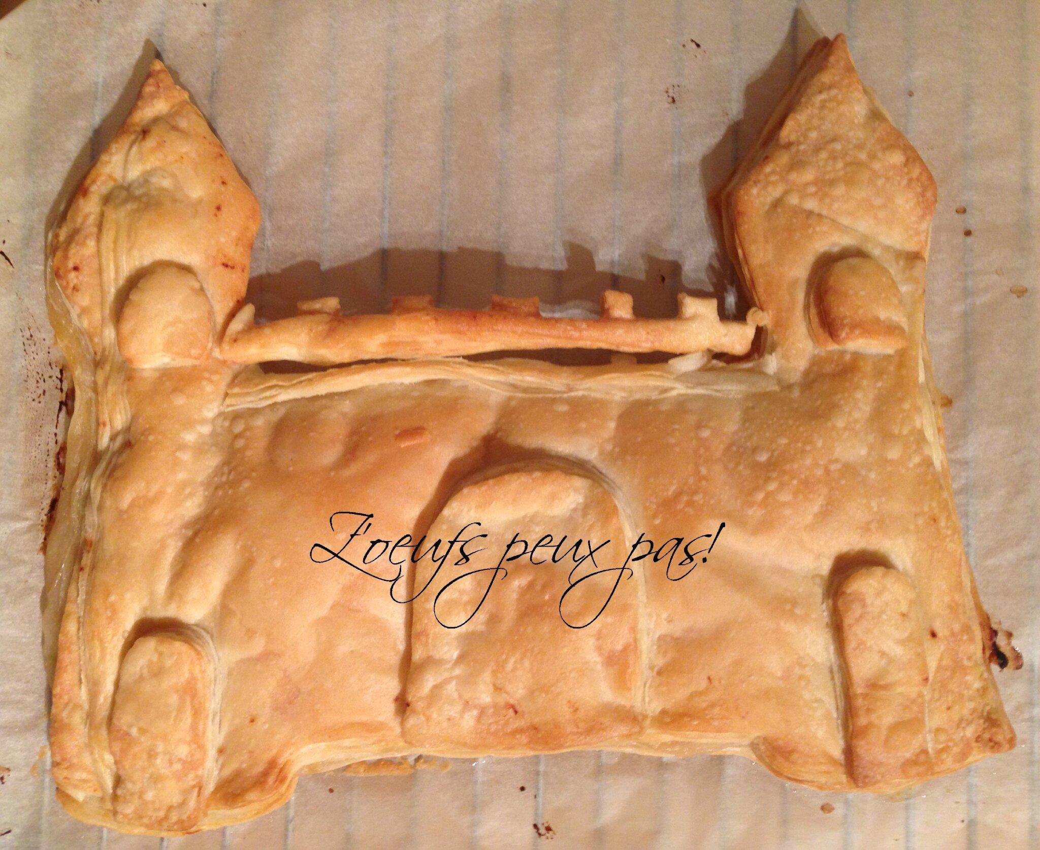galette des rois aux pommes sans oeufs et en forme de château z