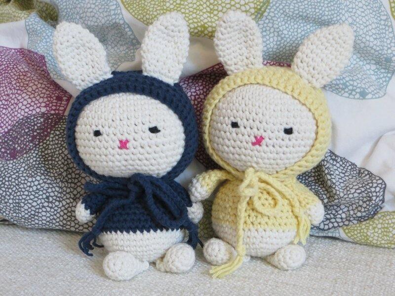 House in the city, lapin crochet 3
