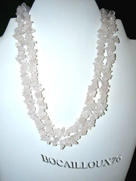 COLLIER SAUTOIR QUARTZ ROSE 6