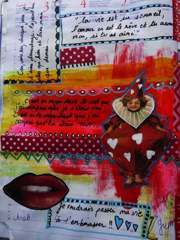 art journal love to love les mots 2