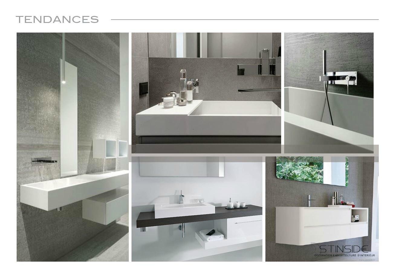 Planches d 39 ambiances salle de bain pour m et mme c for Planche pour lavabo salle de bain