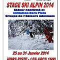 Ski alpin stage 2014.