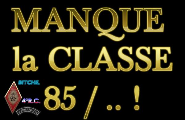 manque la classe 85a