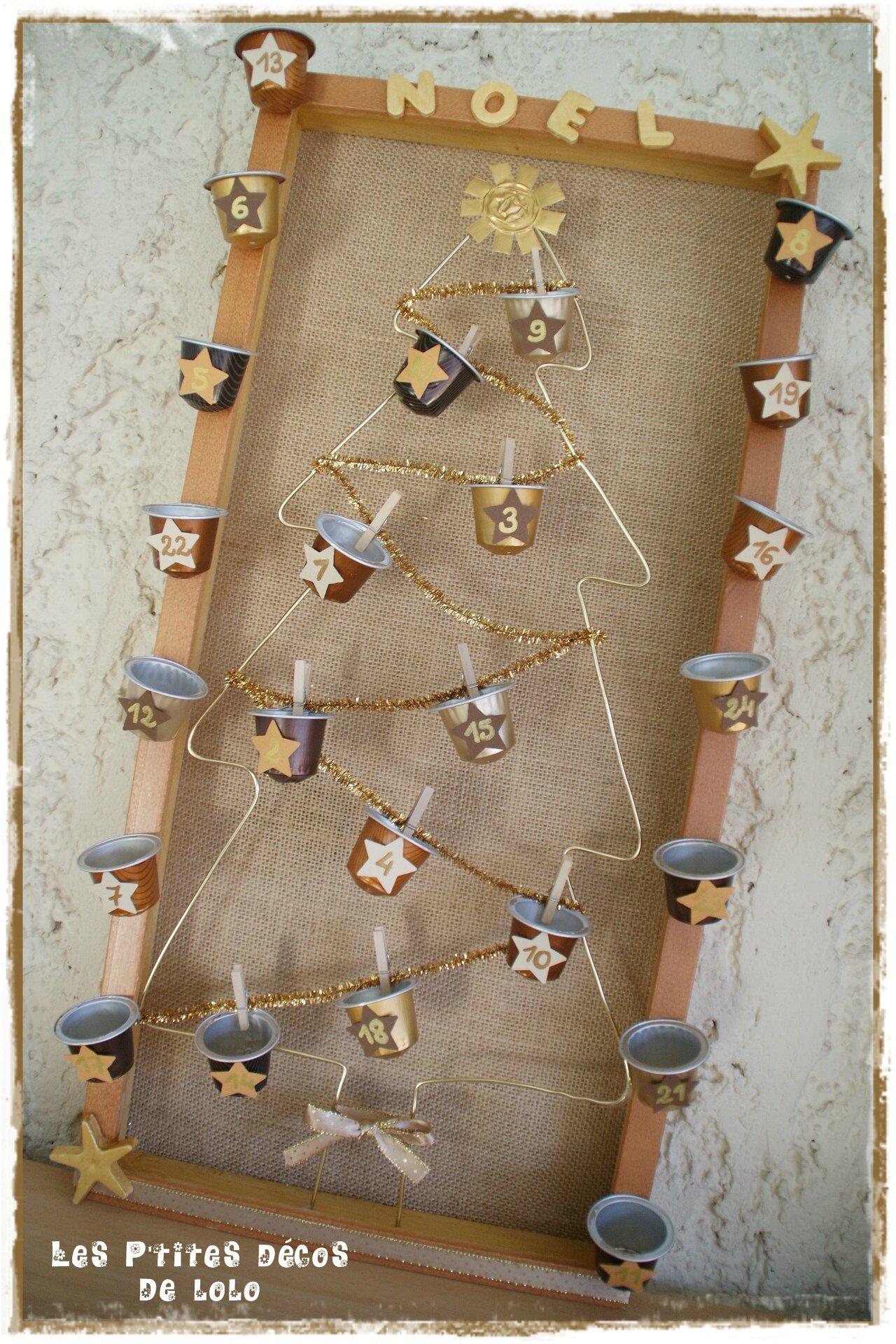 DIY déco de Noël : faire un calendrier de l'Avent avec des capsules de nespresso