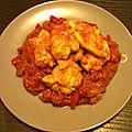 Lotte sauce tomate et poivron (légèrement épicée)