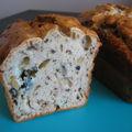 Cake bleu et noix