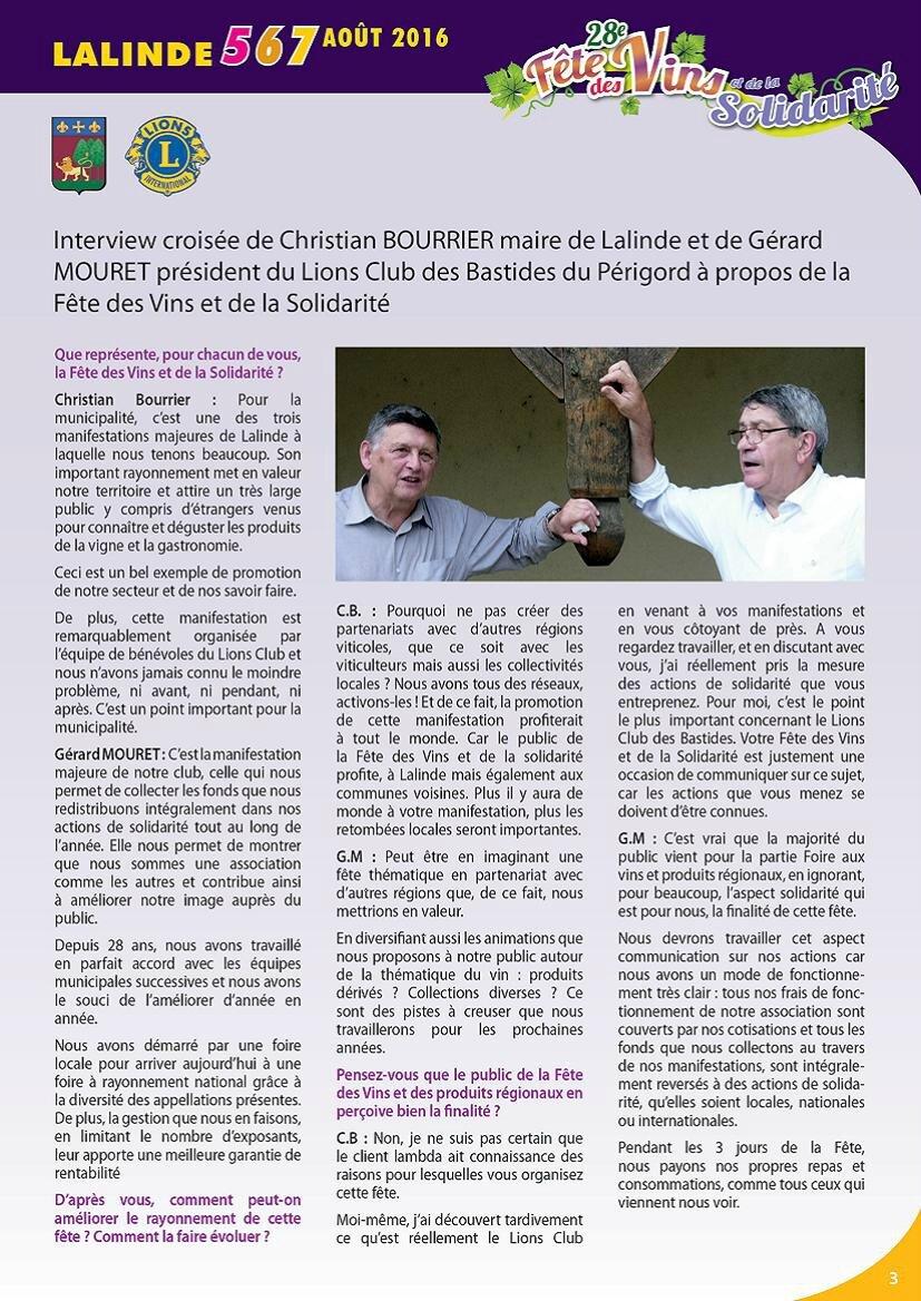 28è fête des vins et de la solidarité à Lalinde