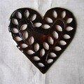 Coeur de plat ajouré chocolat