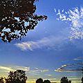 Ciel d'automne avant le coucher du soleil (2)