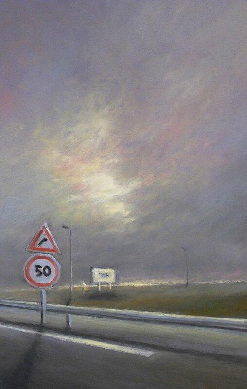 k nowhere 49, dec 2015, pastel à l'huile, 32 x 48 cm