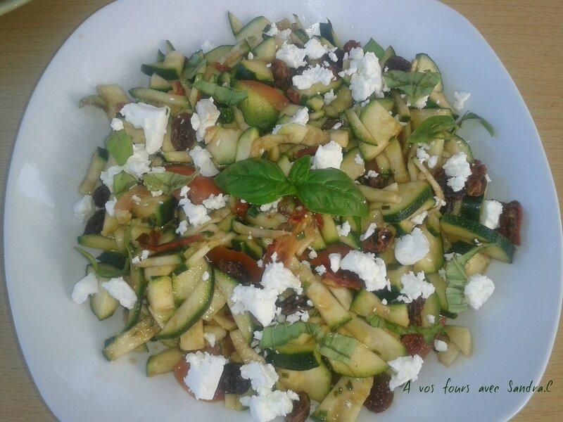 Salade de courgette feta