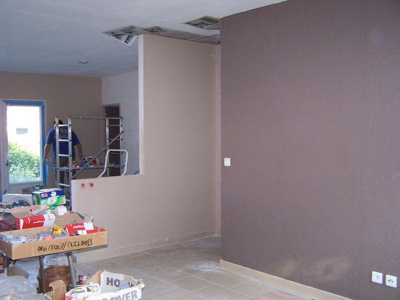 Installation du cumulus et peinture de l 39 entr e la maison d 39 erwan et nadia for Peinture de la maison