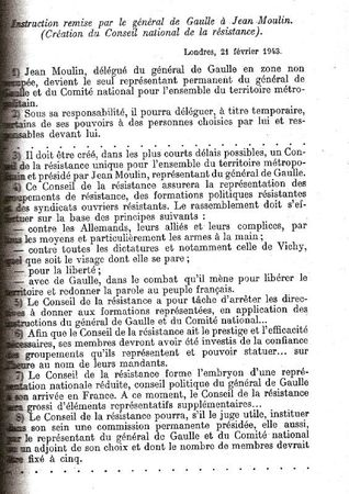 Instructions 21 fév 1943