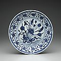 Dish, ming dynasty, 14th-15th century