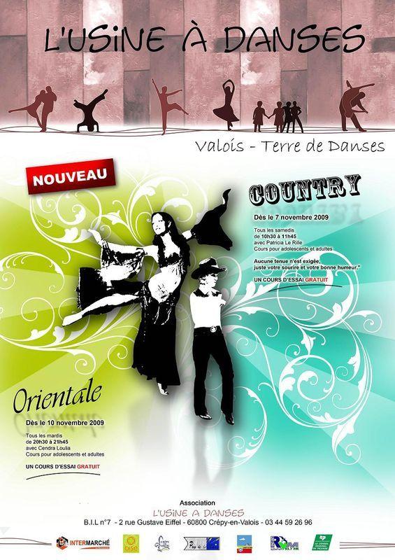 P/ Affiche cours L'Usine à Danse