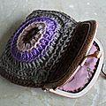 Petit porte monnaie granny au crochet / bag purse crochet