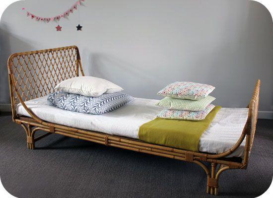 lit osier ann es 60 motifs croisillons l 39 atelier du. Black Bedroom Furniture Sets. Home Design Ideas