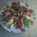 Salade aux magrets de canards fumés