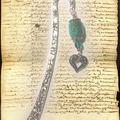 MP perle indienne verte et coeur argent (N)