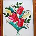 Fleurs sur carton mousse