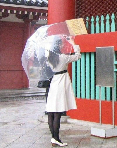 parapluie transparent cloche