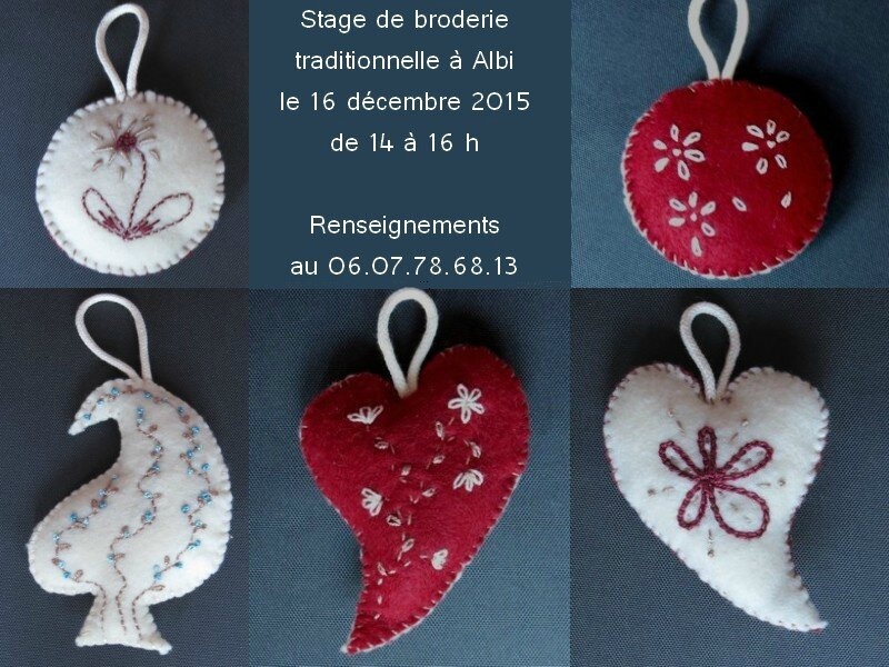 stage broderie traditionnelle albi decembre 2015