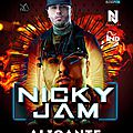 Nicky jam en concert a alicante (espagne)le 10 juin 2016