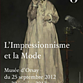 L'impressionnisme et la mode, exposition au musée d'orsay