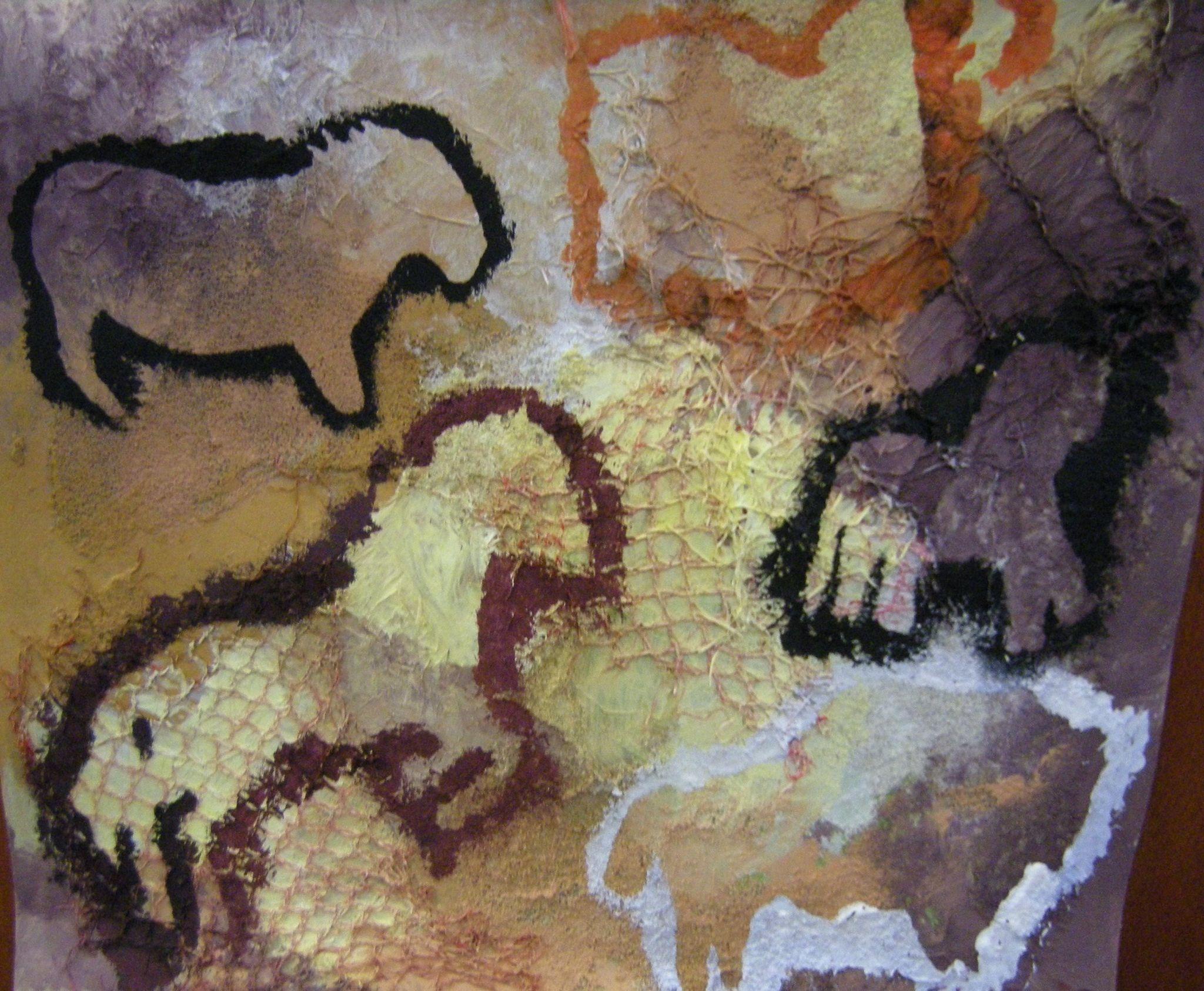 Fresque rupestre r alis e par les enfants domi dessins for Comment faire la peinture