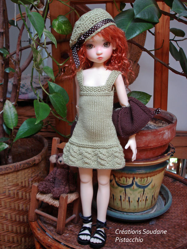 N°37 PISTACCIO for BJD MSD 18 inches KayeWiggs