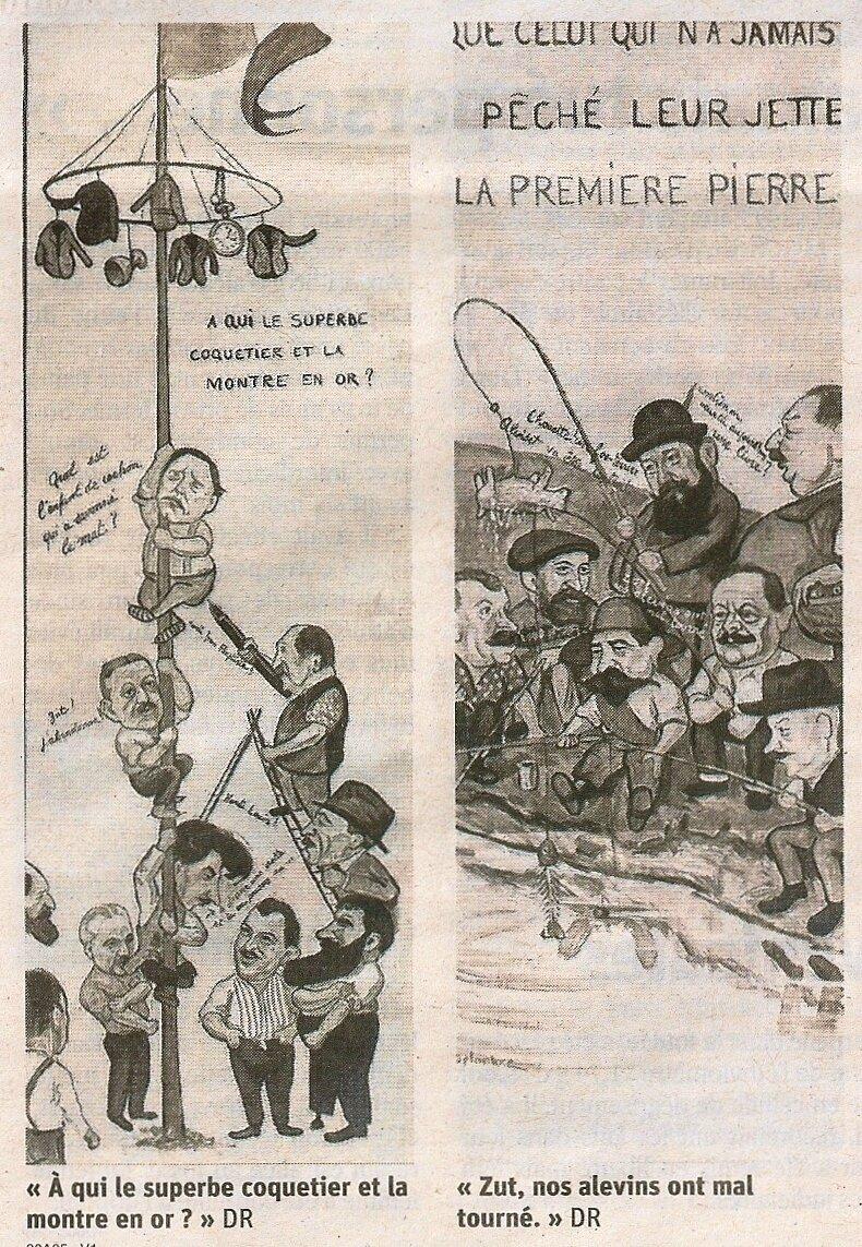 """Les Caricatures Delarbre """"sauvées"""" par les sociétaires des CCTB"""