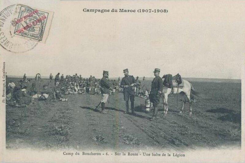 CPA Maroc Camp de Boucheron 1907 1908