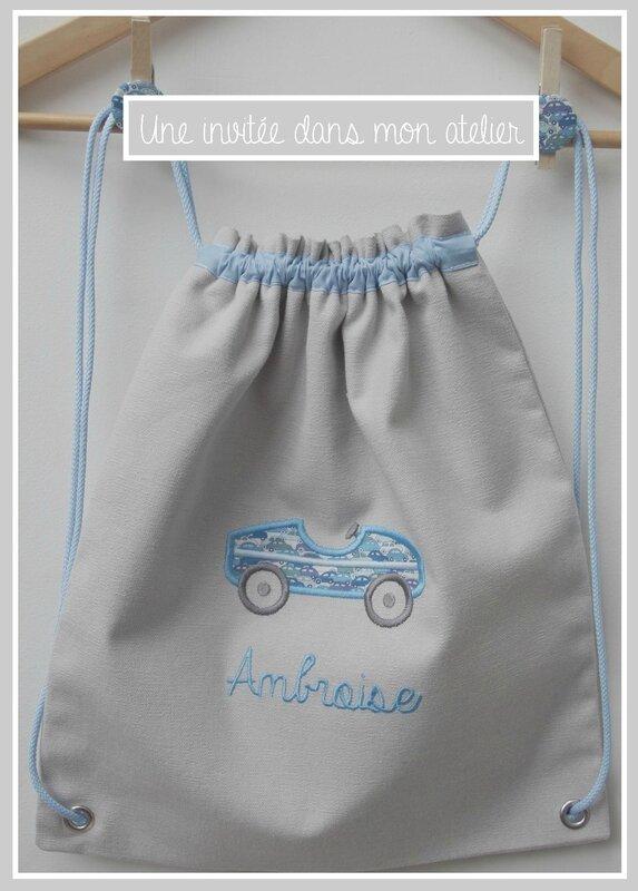 sac à dos enfants-personnalisé-Liberty cars bleu