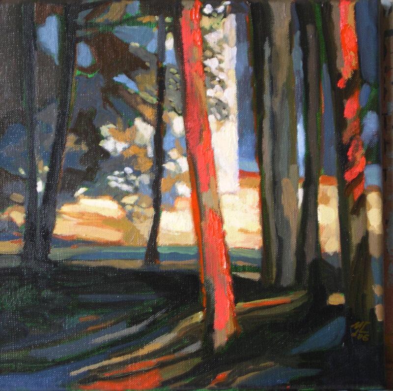 2006-Sous les arbres-huile-30x30cm