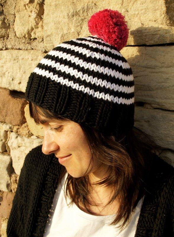 pompons bonnet