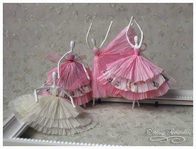 Atelier loisirs créatifs : Ballerines en fil de fer et serviette en papier