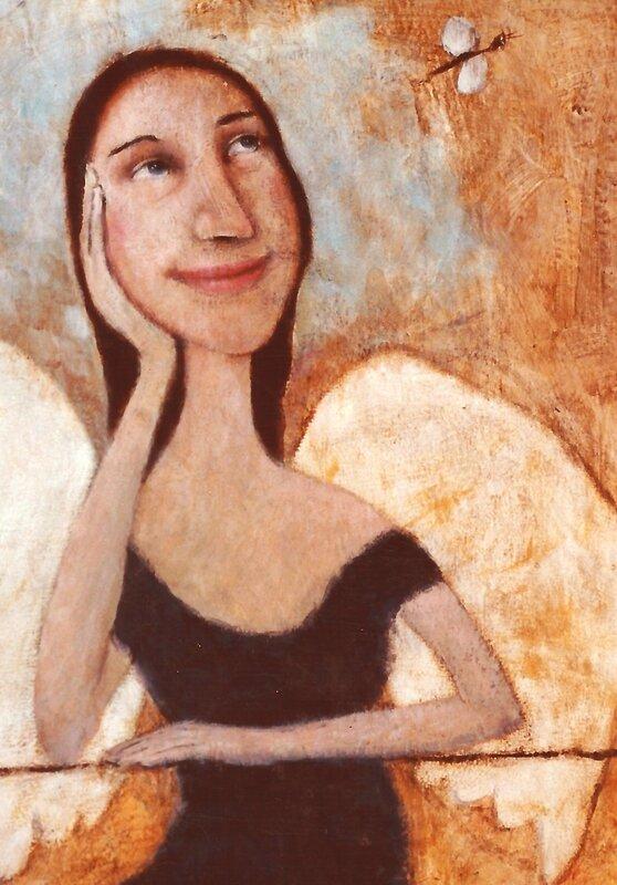 l'ange apprenti(detail )Peinture, (2)