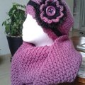 bonnet et snood au crochet