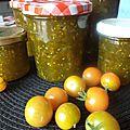 Confiture de tomates vertes et pommes