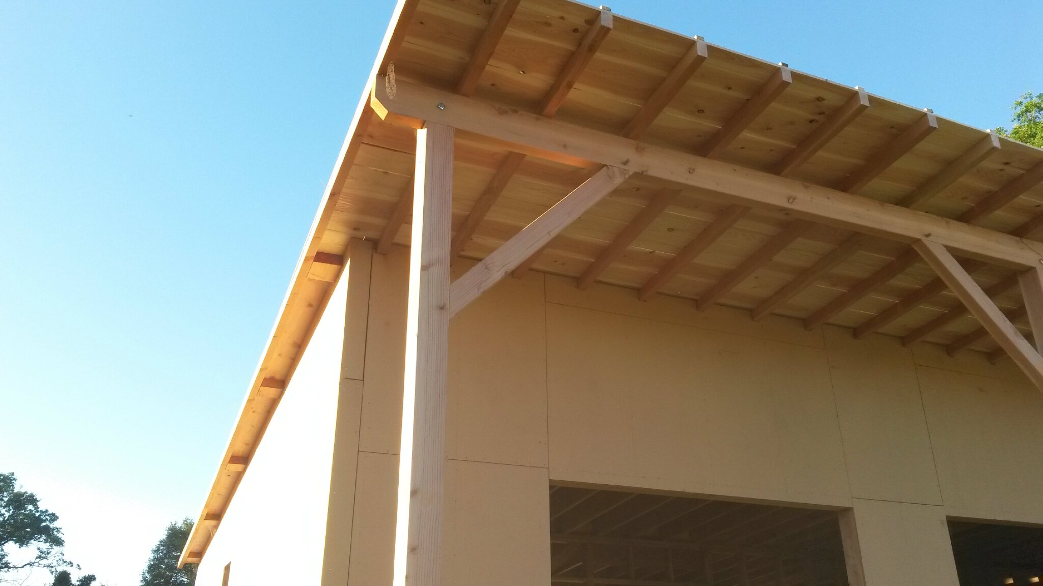 L 39 ossature bois notre projet de maison passive montreuil bonnin 86 - Comment couvrir une toiture ...