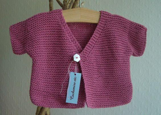 comment tricoter un gilet bebe facile