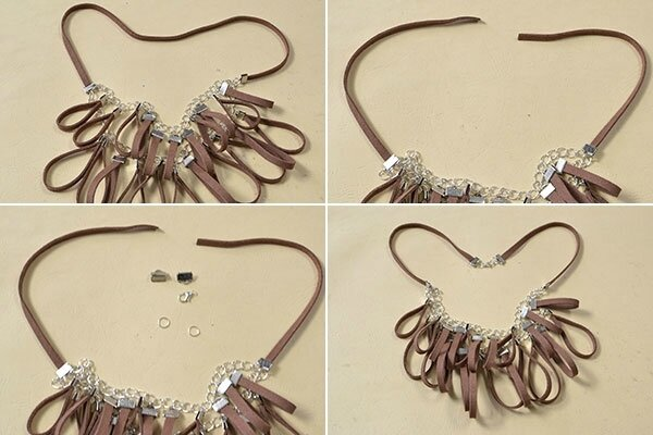 how-to-make-women_s-chain-necklace-with-leather-pendants-4