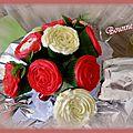 Bouquet de cupcakes au caramel au beurre salé