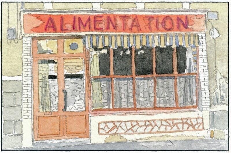 31 Sablé - Façade d'un vieux magasin (peut-être rue Aristide Briand) 1992 02 09 (3 de 5)