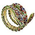 Snake coil bracelet, illario for hamilton jewelers, 1980's