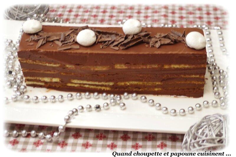 Bûche au chocolat et petits beurre sans cuisson-6597