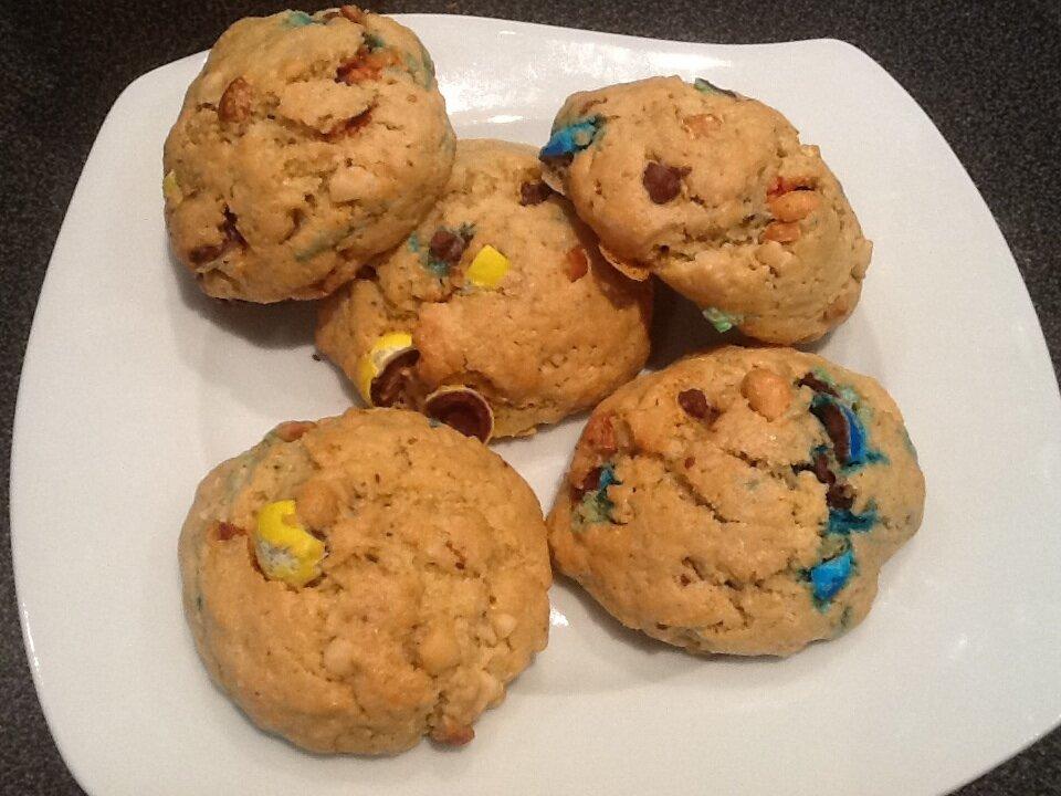 Cookies aux m&ms et beurre de cacahuète