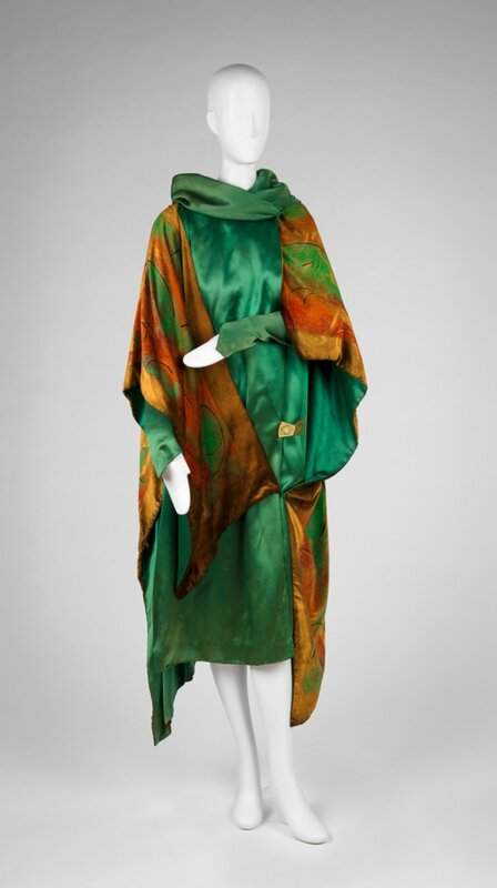 Paul Poiret (French, 1879-1944), Dress with Attached Wrap, ca