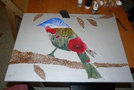 Peinture et rankaku avec joint l 39 atelier dans les nuages - Peinture coquille d oeuf ...